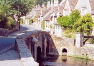 bridge over the By Brook at Castle Combe