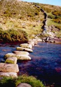 stepping stones at Laughter Hole