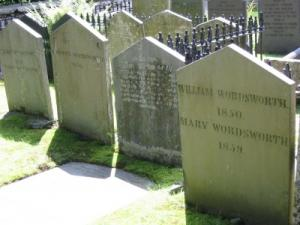 the Wordsworth family graves at St Oswald's church, Grasmere