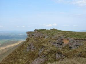 the rocky summit of Fan-y-Big