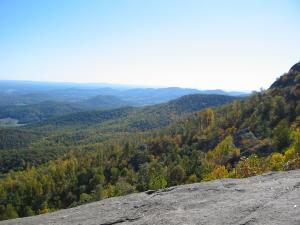 Blue Ridge Mountains seen from Old Rag