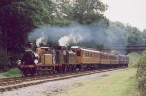 train on The Bluebell Railway